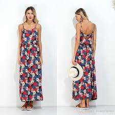 sun dress wemens summer sun dress neck flower