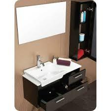 caro 36 inch espresso modern bathroom vanity with mirrored side