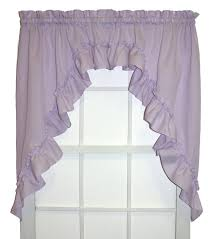 Ruffled Kitchen Curtains by Ruffled Swag Curtains 6069