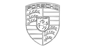 porsche logo black and white how to draw the porsche logo symbol emblem youtube