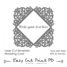 Invitation Cards Templates Lace Wedding Invitation Card Template Folds Svg от Easycutprintpd