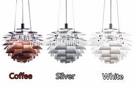 Artichoke Chandelier White 100 Replica Aluminum Pine Cone Ph Artichoke Pendant Lamp