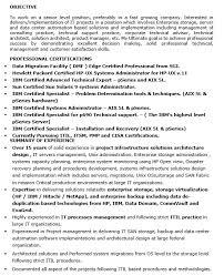 Itil Certified Resume 16 Free Sample Storage System Architect Resumes U2013 Sample Resumes 2016