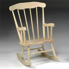 perfect unfinished wooden rocking chairs and kids rocking chair