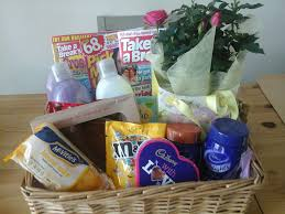 gift hamper for mum just out of hospital contains cake