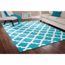 only at walmart square light blue with white trellis wool carpet