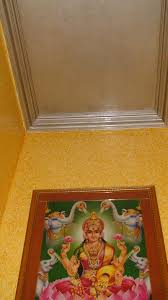 pooja room ceiling and wall design gharexpert