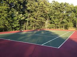 basketball tennis multi use courts l deshayes dream backyard half