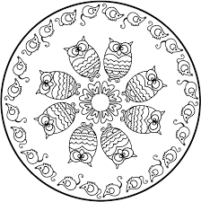 simple mandala coloring pages for kids contegri com