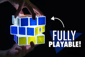 light up cubes rubik s cube light fully playable and rechargeable