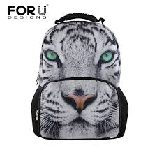 forudesigns 3d white tiger backpack for unique