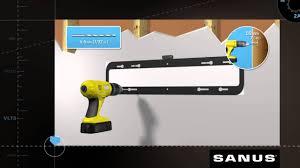 Sanus Simplicity Wall Mount How To Install Your Sanus Vlt5 Tv Mount Youtube
