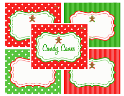 christmas printable labels food label tents gingerbread kid