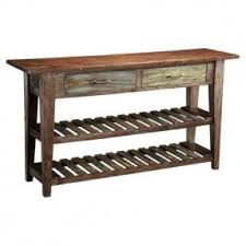 Cottage Sofa Table Sofa Table With Wine Rack Foter