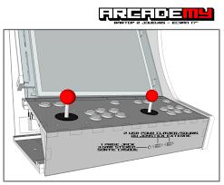 arcade en bois a l u0027avant du kit bois plexi pour une borne d u0027arcade type bartop 2