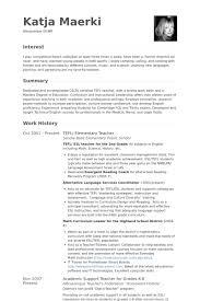 Teaching Resume Samples Montessori Teacher Resume Sample Best Resume Collection
