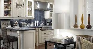 Cream Kitchen Cabinets With Blue Glass Tile Backsplash Ivory - White glass tile backsplash