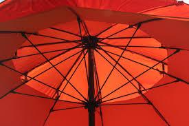 Orange Patio Umbrella by Pebble Lane Living