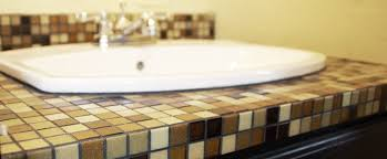 bathroom countertop tile ideas tile 101 how to build tile counters diydiva