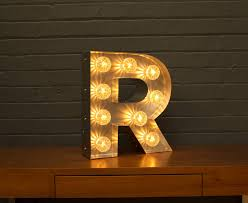 light up marquee bulb letters r by goodwin goodwin