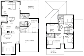 Floor Plans For 1 Story Homes Two Story House Plans With Balconies