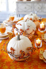 thanksgiving table white pumpkin at home depot today