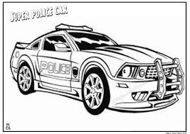 super police car coloring kids