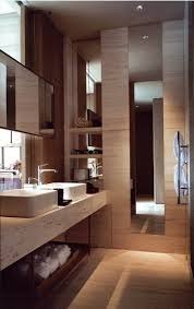 Modern Bathroom Ideas Pinterest Soft Warm Travertine Marble Contemporary Vanity Shelf And Basins
