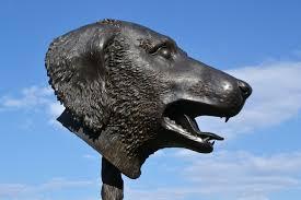 file dog u0027s head sculpture