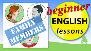 family members in english beginner english lessons youtube