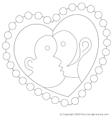 Kiss Heart Shaped St Coloring Page Coloring Pages Kpop