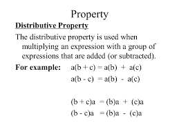 ch 2 6 objective to use the distributive property to simplify