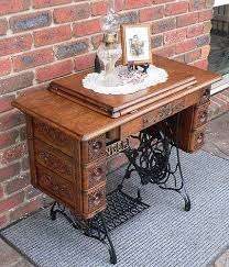 used sewing machine cabinet years ago i saw a antique sewing machine and table like this in a