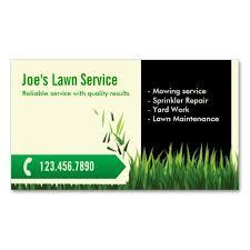 Landscape Business Cards Design Professional Mowing Lawn Care Business Card Lawn Care Business
