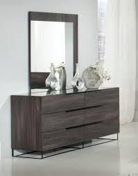 Grey And Oak Furniture Domus Enzo Italian Modern Grey Oak Mirror