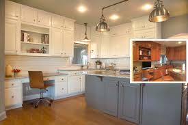 Chestnut Kitchen Cabinets Ceramic Tile Countertops Paint Kitchen Cabinets Before And After