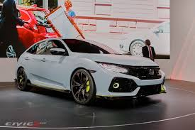 official civic hatchback prototype unveiled 2016 honda civic