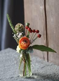 bud vase garland s ear orange fall colors oreonta house woodstock