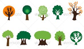 tree symbol set of tree symbols by seamartini graphicriver