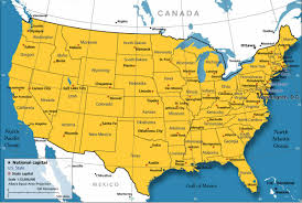 The Map Of Mexico by Physical Geography Map Of The United States