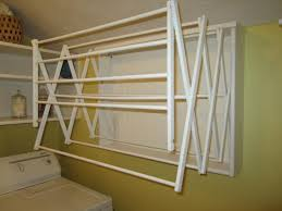 laundry room winsome antique clothes drying rack wall mounted