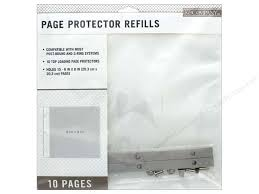 scrapbook page protectors k co scrapbook refill pages 8x8 10pc createforless