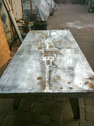 Zinc Table Top The Making Of A Custom Zinc Table