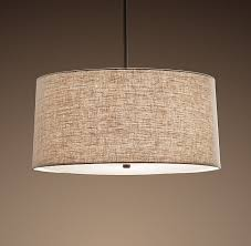 Restoration Hardware Pendant Light Linen Shade Pendant