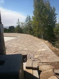 Patio Around Tree Pavers In Utah Around A Pool Chris Jensen Landscaping In Salt