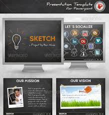 sketch presentation template sketching ideas powerpoint template