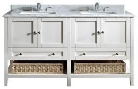 j international 70 pearl white mission double vanity sink bathroom