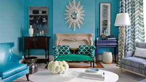 Turquoise Bedroom Decor Ideas by Turquoise Living Room Ideas And Blue Wingback Chair With Ottoman