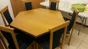 Dining Room Table 6 Chairs 7pc Dinette Dining Room Table W 6 Microfiber Padded Mestler