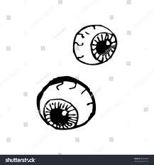 quirky ink drawing halloween eyeballs stock vector 46960345